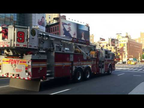 FDNY (New York's Bravest) 2010 Seagrave Aerialscope 75' Tower Ladder 9 Truck