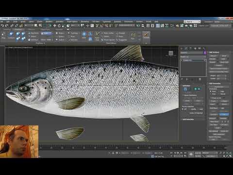 3ds Max моделируем рыбу по картинке