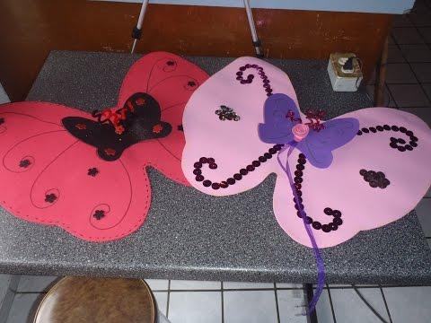 Disfraz como hacer alas de mariposa o hada con fomy/ foami /goma ...