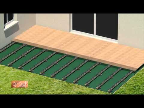 Pose d 39 une terrasse en bois avec perfect rail fixation invisible de lame - Photo terrasse en bois ...
