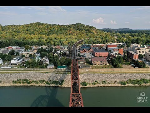 Drone Flight Over Water At Point Pleasant WV During Mothman Festival