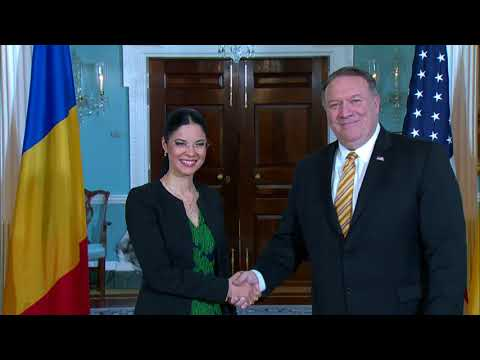 Secretary Pompeo Meets with Romanian Vice Prime Minister Ana Birchall