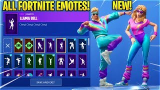 *NEW* AEROBIC SKINS SHOWCASE WITH ALL FORTNITE DANCES & EMOTES!