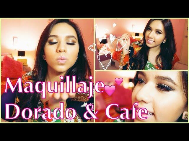 Maquillaje Clásico Dorado y Cafe ♡ Princesapink105