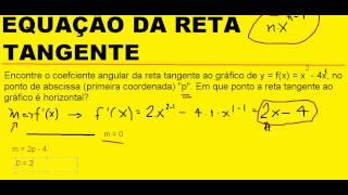 Equação da reta tangente com derivada Coeficiente angular Cálculo I Diferencial e Integral