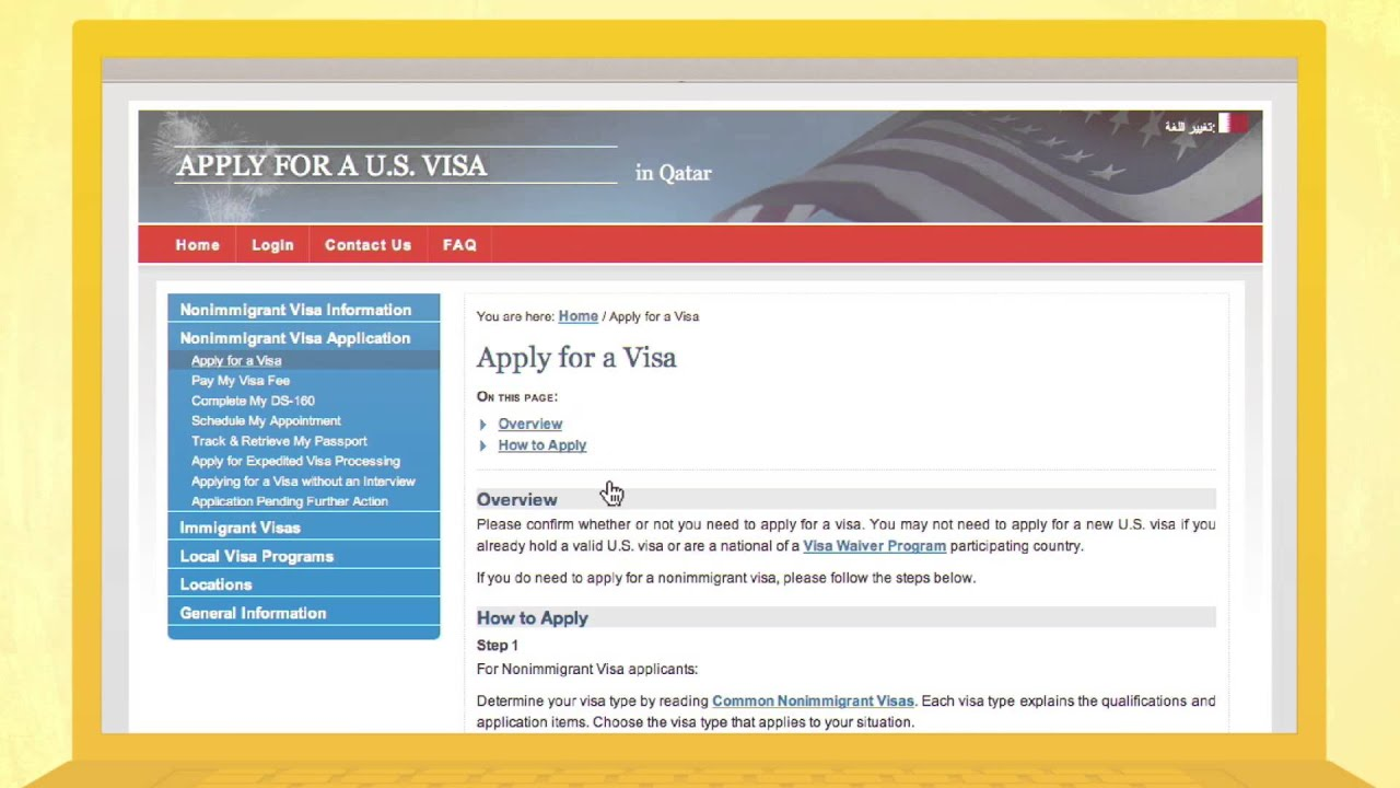 How to Apply for an American Visa (English) - YouTube
