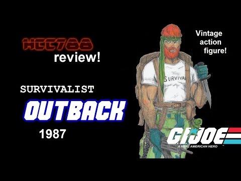 HCC788 - 1987 OUTBACK - Survivalist - Vintage G.I. Joe toy review!