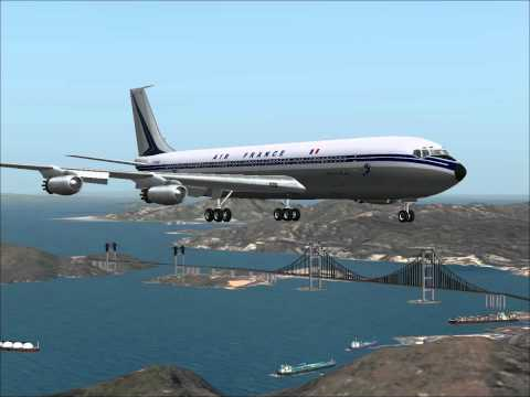 Boeing 707 320 Air France  landing  Dangerous Airport  Hong Kong  Kaïtak  1959