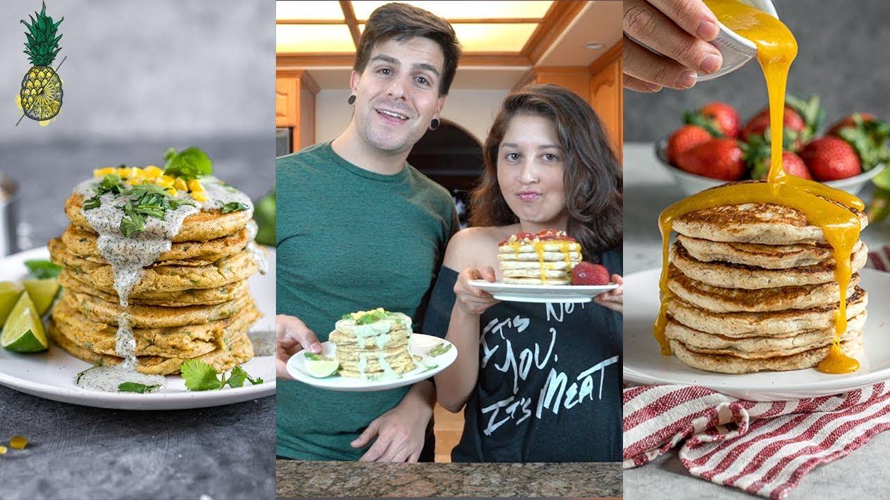 Vegan Pancake Recipe Challenge | Chris vs. Jasmine | Sweet and Savory #SSVHealthy2018