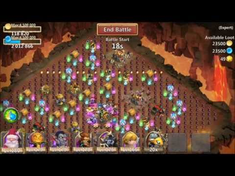 Castle Clash Expert 8 Dungeon 6 Of 10 100% Victory Elite