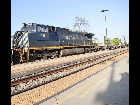 3-30-17!!Railfanning Commerce & Monntebello!! Featuring a F125, UP T4 ACe & BC Rail action!