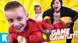 Superhero Game Gauntlet: Best Time Wins The Championship + New Mystery Box Clues | Kidcity