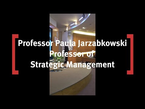 Professor of Strategic Management, Paula Jarzabkowski: Reinsurance Event at Cass