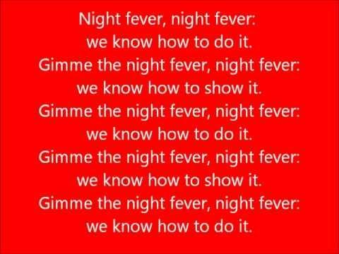 Glee - Night Fever - Lyrics