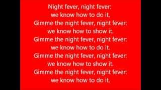 Glee - Night Fever - Lyrics