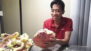 💥370- Cua Hoàng đế Mạ vàng    5kg 24-carat