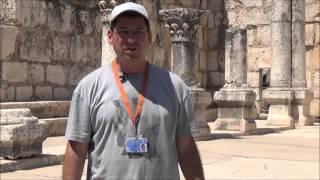 Экскурсия в Капернаум на озере Кинерет(Моти Осповат - гид в Израиле, рассказывает про синагогу в Капернауме - городе св. Петра и связанную с ней..., 2015-11-03T16:02:32.000Z)