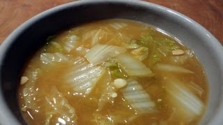 "Cabbage And Soy Bean Paste Soup (""baechu Doenjangguk"":배추된장국)"