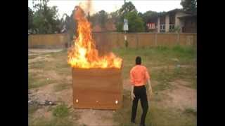 throw the 2 balls but one ball fire fighting has been extinguished,...