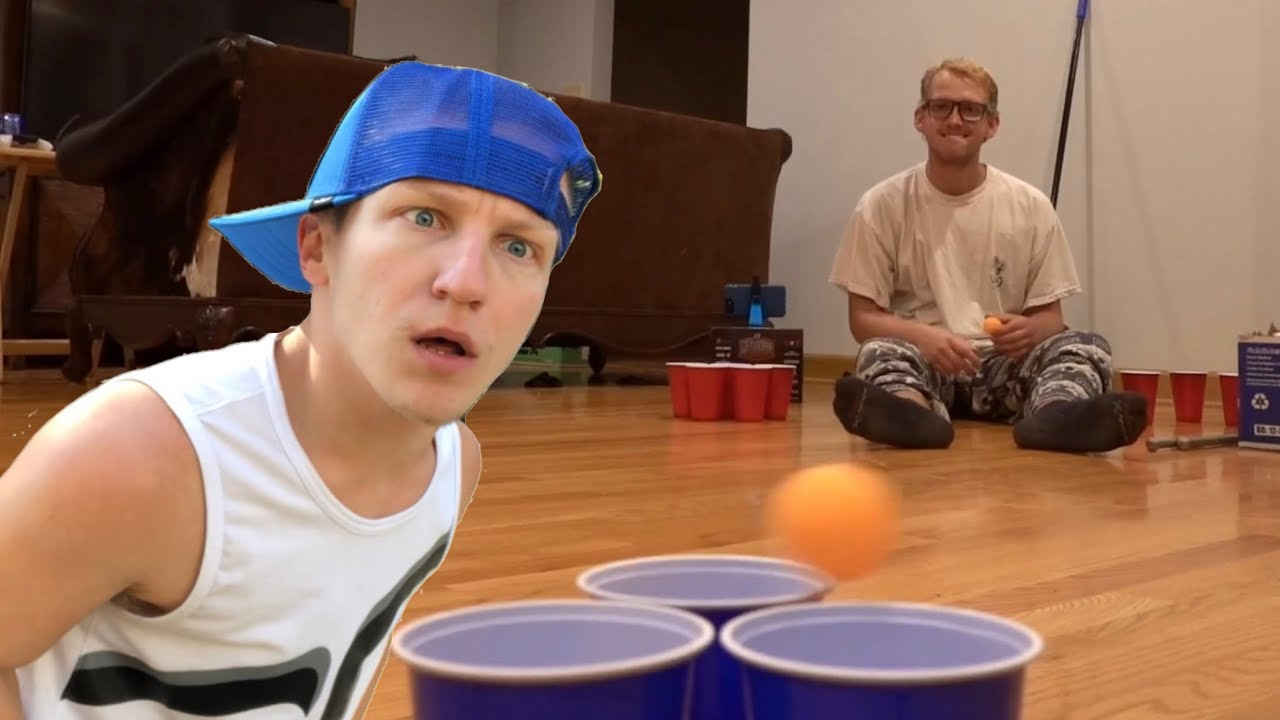 Legally Blind Guy Trying To Play Party Pong