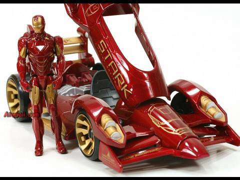Iron Man Movie Toy Mark Vi Red Vortex Car Review Unboxing