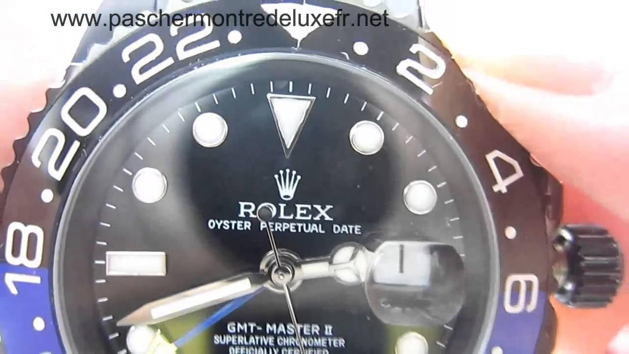 Replique Montres Rolex GMT Master II Automatique S S