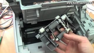 Что делать если МФУ Samsung 3400, 3405, 3407 плохо берет или не берет бумагу. Замена ролика.