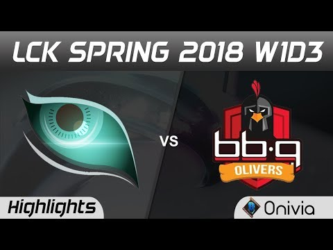 KDM vs BBQ Highlights Game 1 LCK Spring 2018 W1D3 Kongdoo Monster vs BBQ Olivers by Onivia
