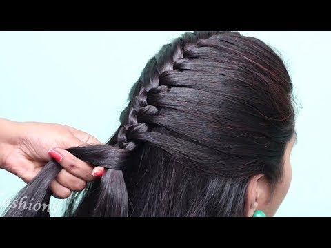 Easy & new french bun hairstyle with trick | beautiful hairstyle | prom hairstyles | hairstyles thumbnail