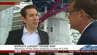 TTC discussing Harmony of the seas and global cruise market (c) BBC 2016