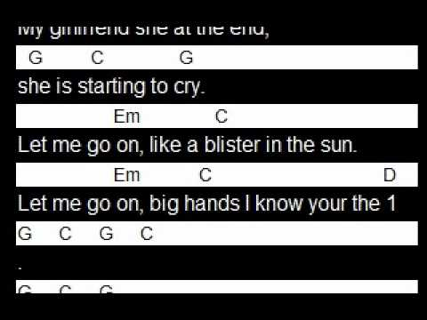 Learn Blister In The Sun Scrolling Chords And Lyrics Youtube
