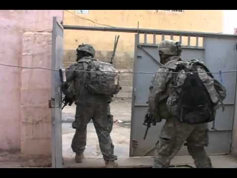 (COMBAT FOOTAGE) Soldiers Engage Insurgents in Iraq