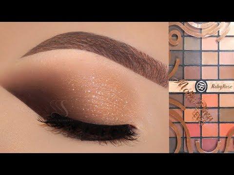 Maquiagem para FESTAS de FIM de ANO! Paleta Matte DIVA da Ruby Rose!