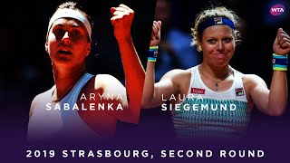 Aryna Sabalenka vs. Laura Siegemund | 2019 Strasbourg Second Round | WTA Highlights
