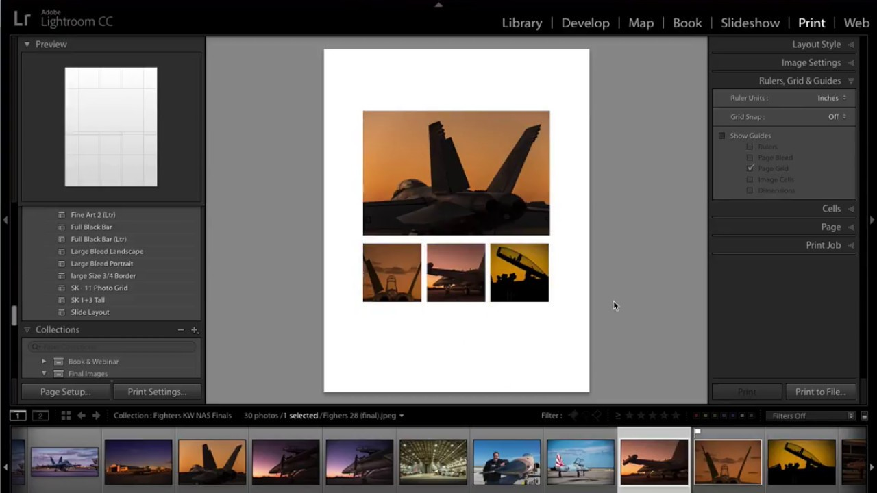 Designing A 13 Layout Custom Lightroom Print Template
