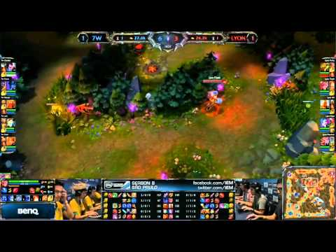 Lyon Gaming vs  Seven Wars   Match 3    IEM Sao Paulo   Leag
