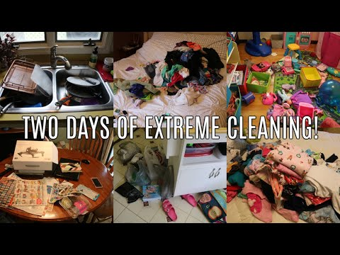 TWO DAYS OF EXTREME CLEANING! WHOLE HOUSE CLEAN WITH ME | CLEANING MOTIVATION 2019