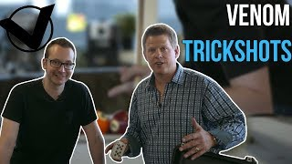 Card Throwing VS Venom Trickshots | Rick Smith Jr.