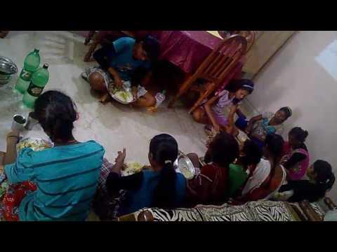 Weekly feeding program for slum children