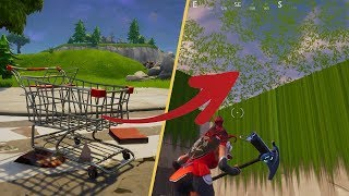 MAP BUG WITH THE CADDIE A TOMATO TOWN - royal fortnite battle