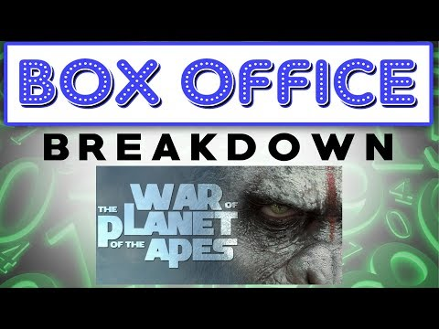War Gets The Apes The Box Office - Box Office Breakdown for July 16th, 2017
