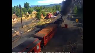 7/11/2018 Eight car train 216 departs Chama, NM