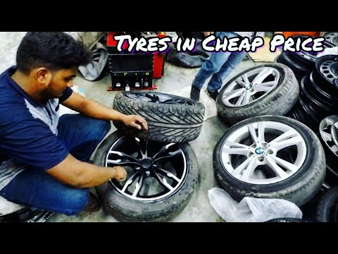 Car Tyres in Cheap Price🔥| Alloys and Tyre Market | DELHI | Tushar 51NGH