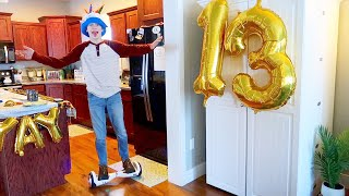 13th Birthday Special - First Hoverboard - HILARIOUS!
