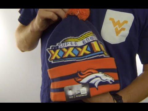 10b7e8403 Broncos  SUPER BOWL XXXIII  Navy Knit Beanie Hat by New Era - YouTube