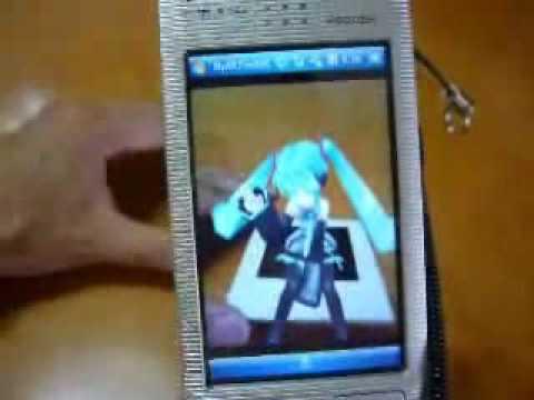 携帯電話でARToolkit(初音ミク)