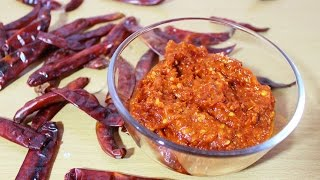 How To Make Chilli Garlic Paste Or Sauce - Indian Style