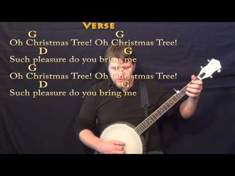 Banjo banjo tabs christmas songs : Oh Christmas Tree (CHRISTMAS) Banjo Cover Lesson in G with Chords ...