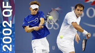 Pete Sampras vs Andy Roddick Full Match   US Open 2002 Quarterfinal