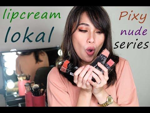 lipstick-matte-lokal-:-pixy-lip-cream-nude-series-swatches-+-review-|-niebita-pratiwi